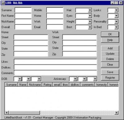 Little Black Book 1.01 screenshot