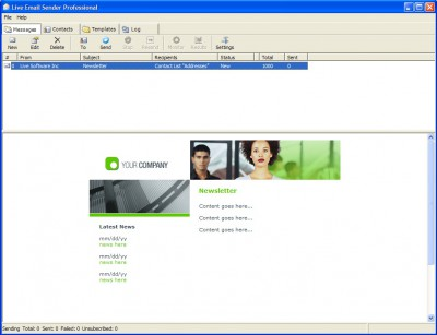 Live Bulk Mailer Professional 7.1 screenshot
