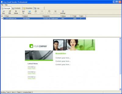 Live Bulk Mailer Professional 8.4 screenshot