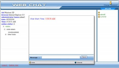 Live Chat Support Software 3.0.5 screenshot