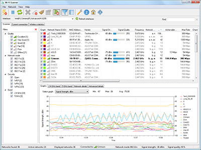 LizardSystems  Wi-Fi Scanner 3.4.0 screenshot