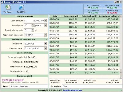 Loan Calculator 1.2 screenshot