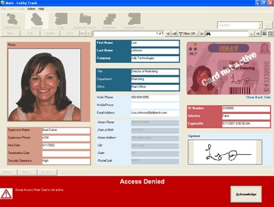Lobby Track Employee Attendance Software 4.3 screenshot