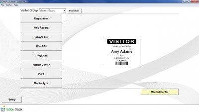Lobby Track Free Visitor Management Software 8.0 screenshot