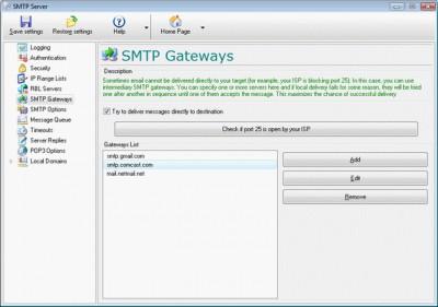 Local SMTP Relay Server 5.261 screenshot