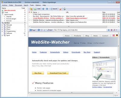 Local Website Archive 2012 screenshot