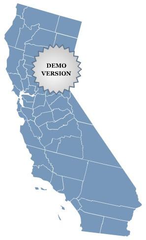 Locator Map of California 1.0 screenshot