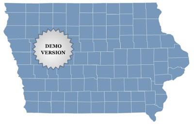 Locator Map of Iowa 1.0 screenshot