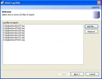 Log2SQL 1.1 screenshot
