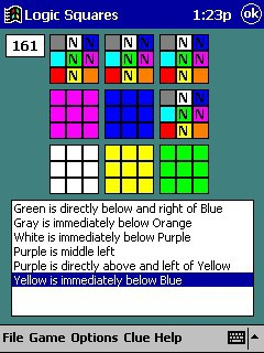 Logic Squares for Pocket PCs 1.0 screenshot