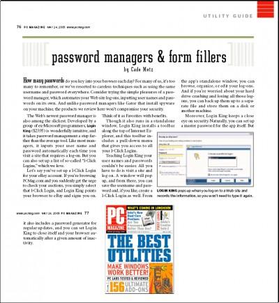 Login King Password Manager 2007 screenshot