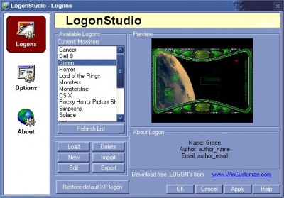 LogonStudio 1.0 screenshot
