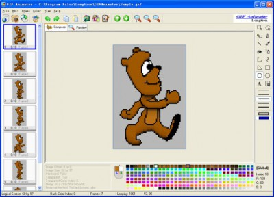 Longtion GIF Animator 5.0.1.52 screenshot