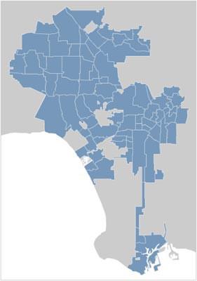 Los Angeles City Map Locator 1.0 screenshot