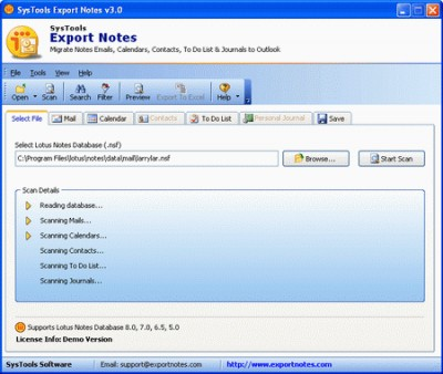Lotus Notes to Outlook 9.0 screenshot
