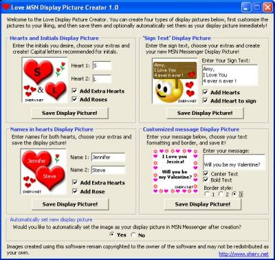Love Display Picture Creator 1.0 screenshot