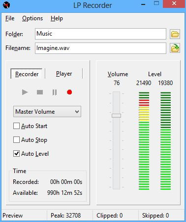 LP Recorder 11.1.1 screenshot