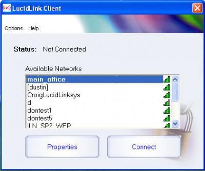 LucidLink WiFi Client 2.2 screenshot