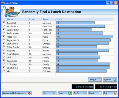 Lunch Picker 3.2 screenshot