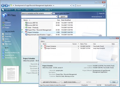 M-Files PRO Document Management Software 4.0 screenshot