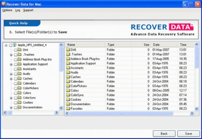 Mac Data Recovery Software 1.0 screenshot
