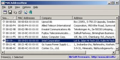 MACAddressView 1.37 screenshot