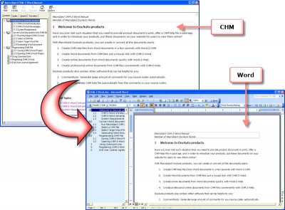 Macrobject CHM-2-Word 2007 Professional 2007.13.60 screenshot