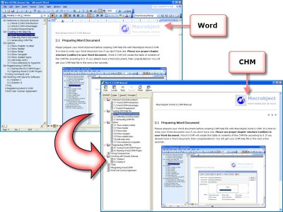 Macrobject Word-2-CHM Lite Edition 3.2.0.367 screenshot