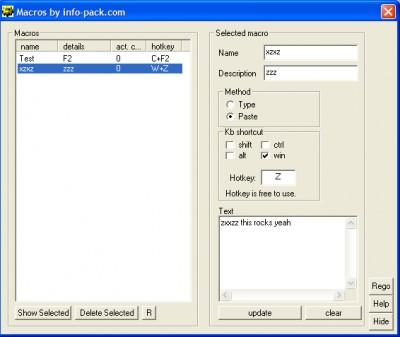 Macros 1.01 screenshot
