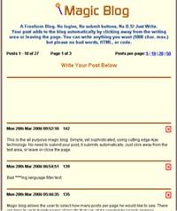 Magic Blog 1.00 screenshot