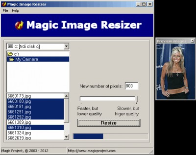 Magic Image Resizer 1.8 screenshot