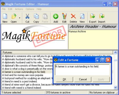 MagikFortune Editor 2.1.1 screenshot