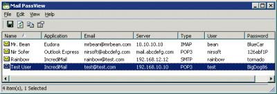 Mail PassView 1.86 screenshot
