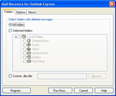 Mail Recovery for Outlook Express 2.3.1 screenshot