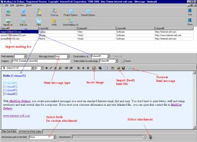 Mailing List Deluxe 6.80 screenshot