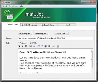 MailJet 3.0 screenshot