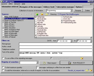 MailNavigator 1.16 screenshot