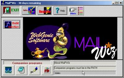 MailWiz 1.07 screenshot