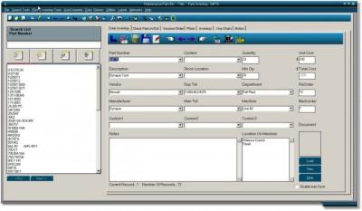 Maintenance Parts Bin 8.1 screenshot