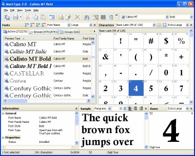 MainType 4.0 screenshot