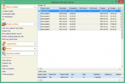 Makhaon Worklist Server 3.2.42 screenshot