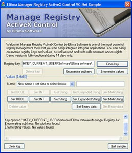 Manage Registry ActiveX Control 2.0 screenshot