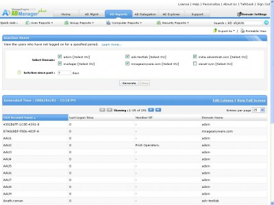 ManageEngine ADManager Plus 5.0 screenshot