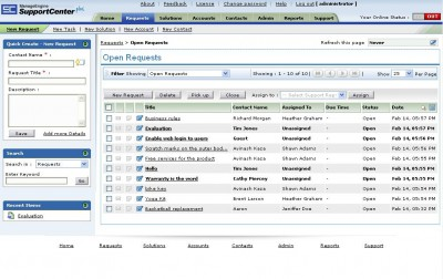 ManageEngine SupportCenter Plus 7 screenshot