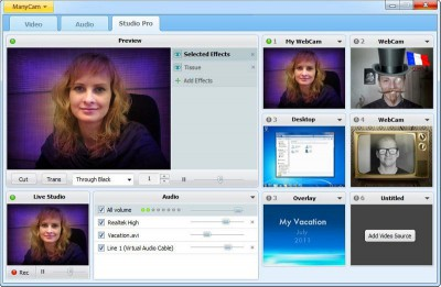 ManyCam Free Webcam Effects 4.1.2 screenshot