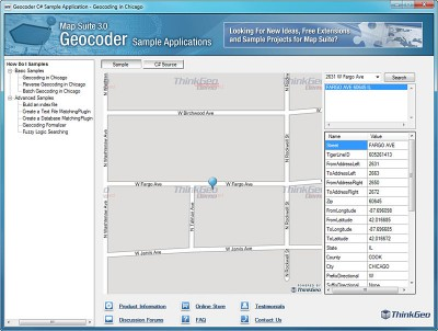 Map Suite Geocoder 6.0.0.0 screenshot