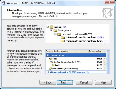 MAPILab NNTP for Outlook 1.50 screenshot