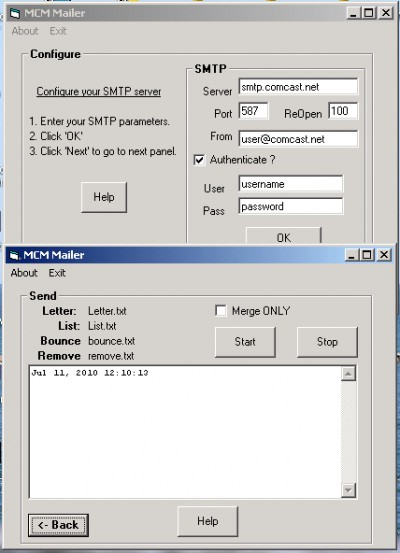 MarshallSoft Client Mailer for Foxpro 5.2 screenshot