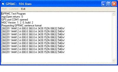 MarshallSoft GPS Component for eVC 1.2 screenshot