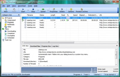 Mass Downloader 3.9 screenshot